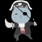 菩薩顔の海賊猫