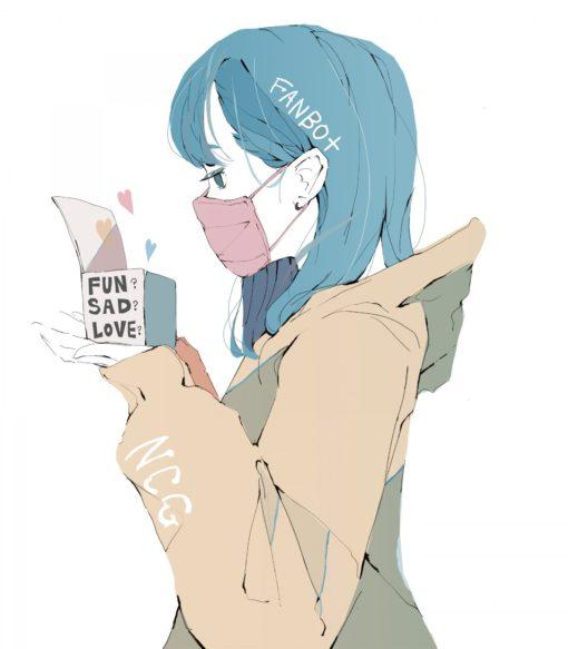 箱を持った女の子のイラスト