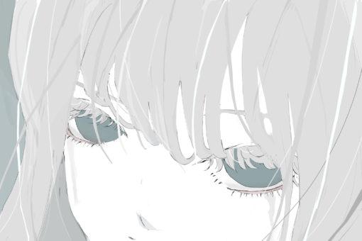 涙を流す女の子のフリーイラスト