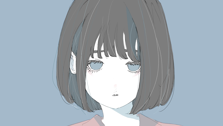 戸惑う表情の女の子のフリーイラスト
