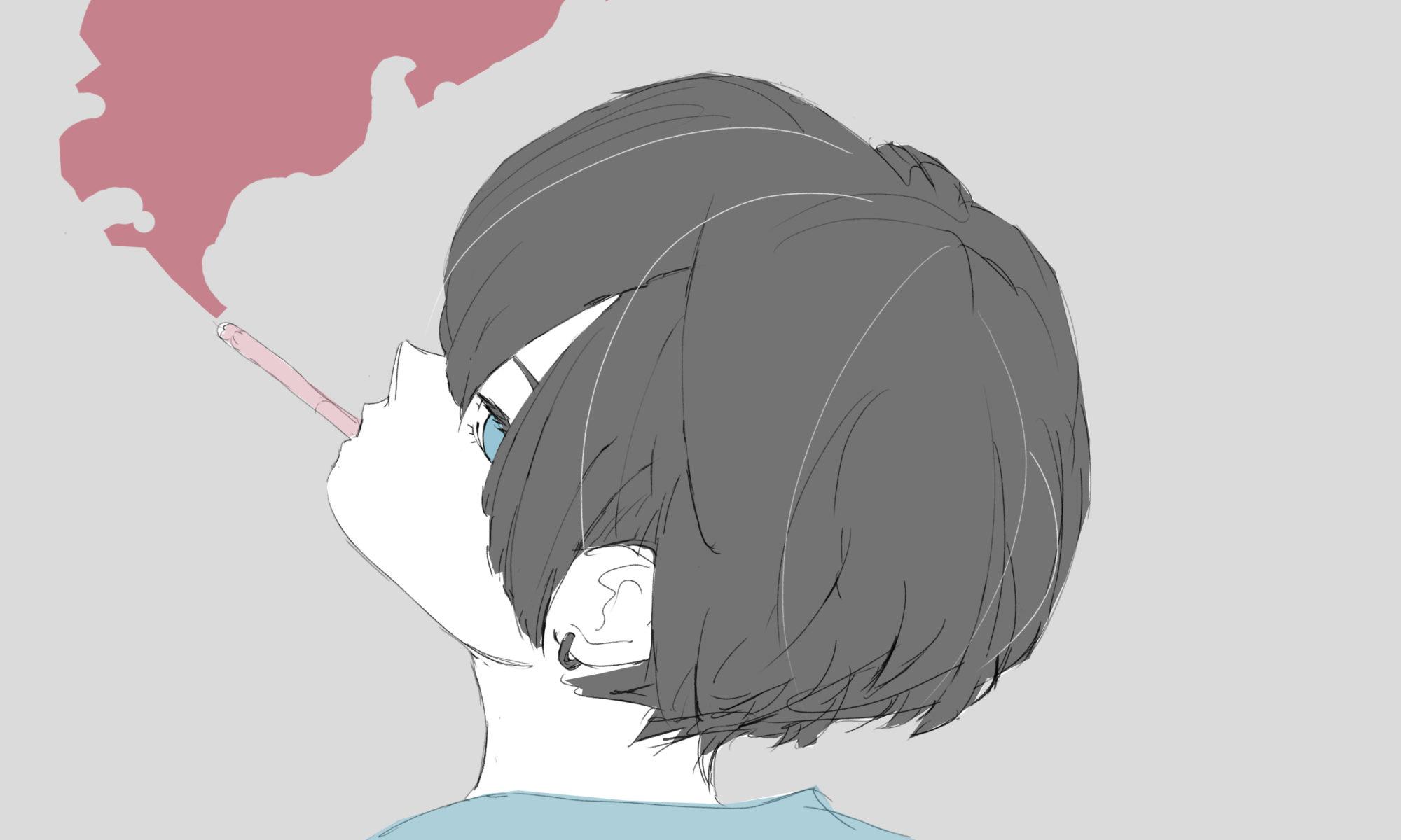 煙草男子のフリーイラスト