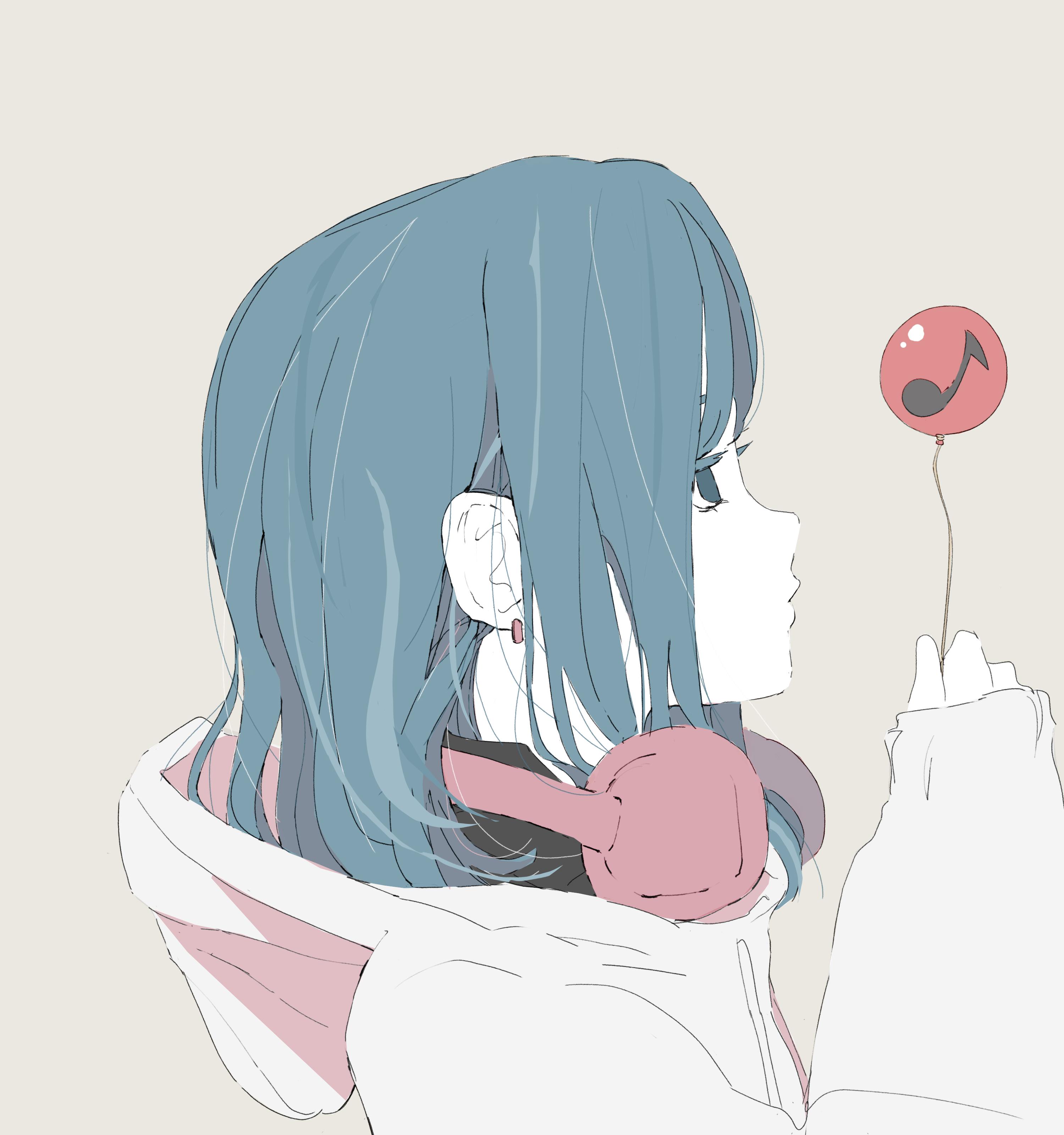 女の子 横顔 フリーイラスト