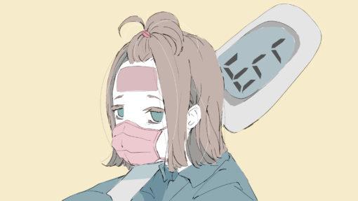 風邪 マスク 女の子 イラスト