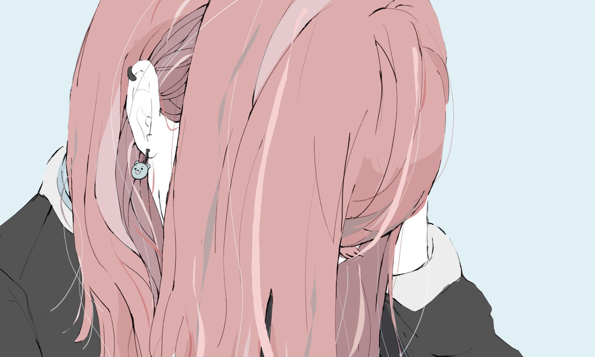 髪の毛 ピアス 女の子 フリーイラスト