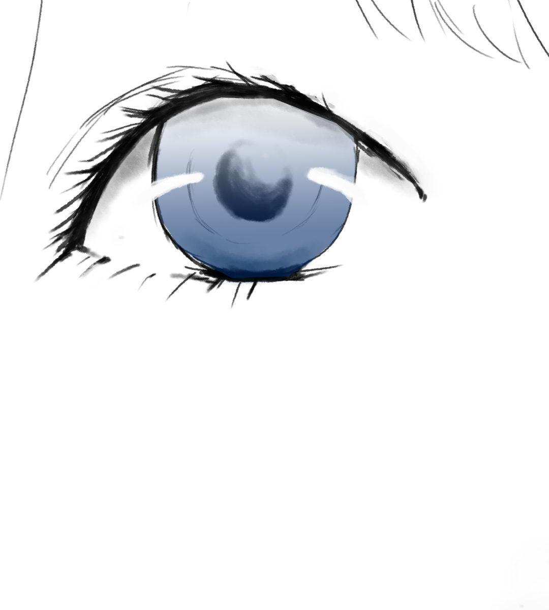 女の子の青い瞳のイラスト