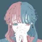 泣いているオッドアイの女の子のイラスト