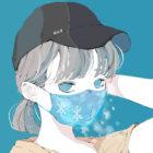 銀髪ポニーテールの女の子のイラスト