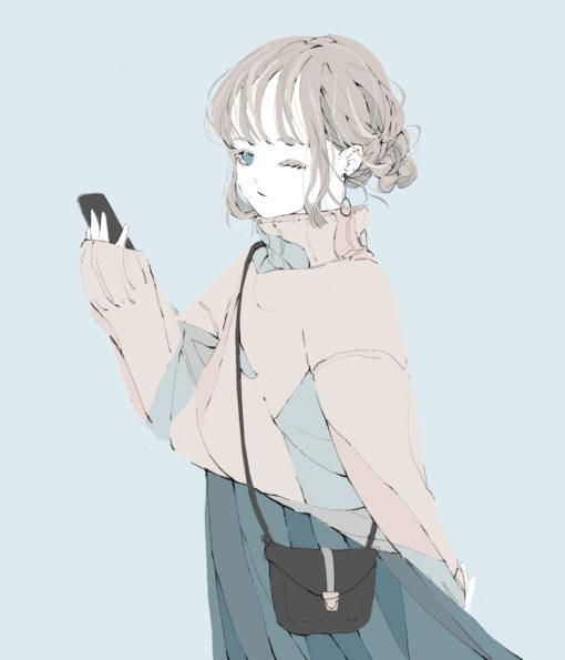 ウィンクをする女の子 フリーアイコン イラスト