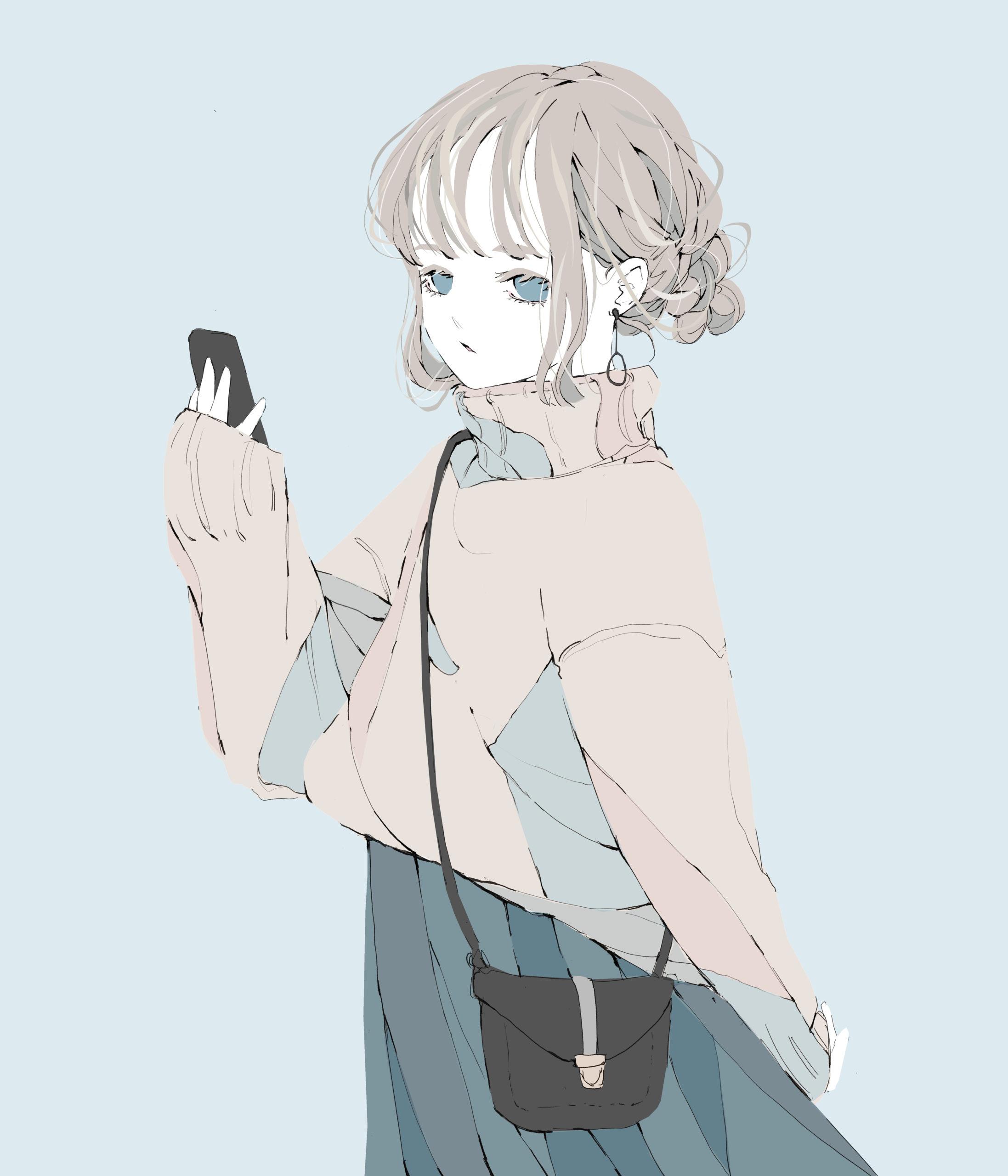 金髪女の子 イラスト