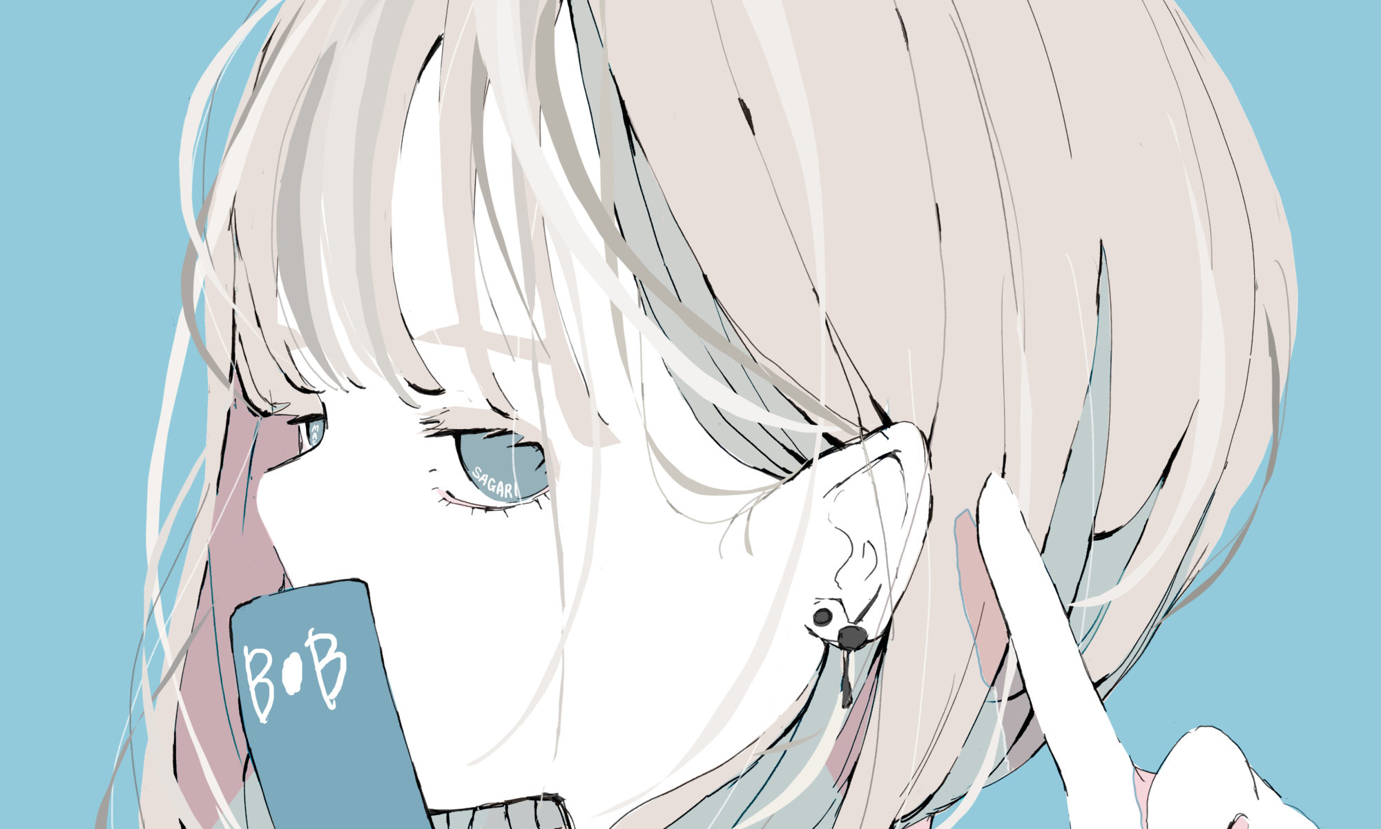 ボブの女の子のイラスト/フリーアイコン
