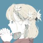花の髪飾りの女の子のイラスト/フリーアイコン