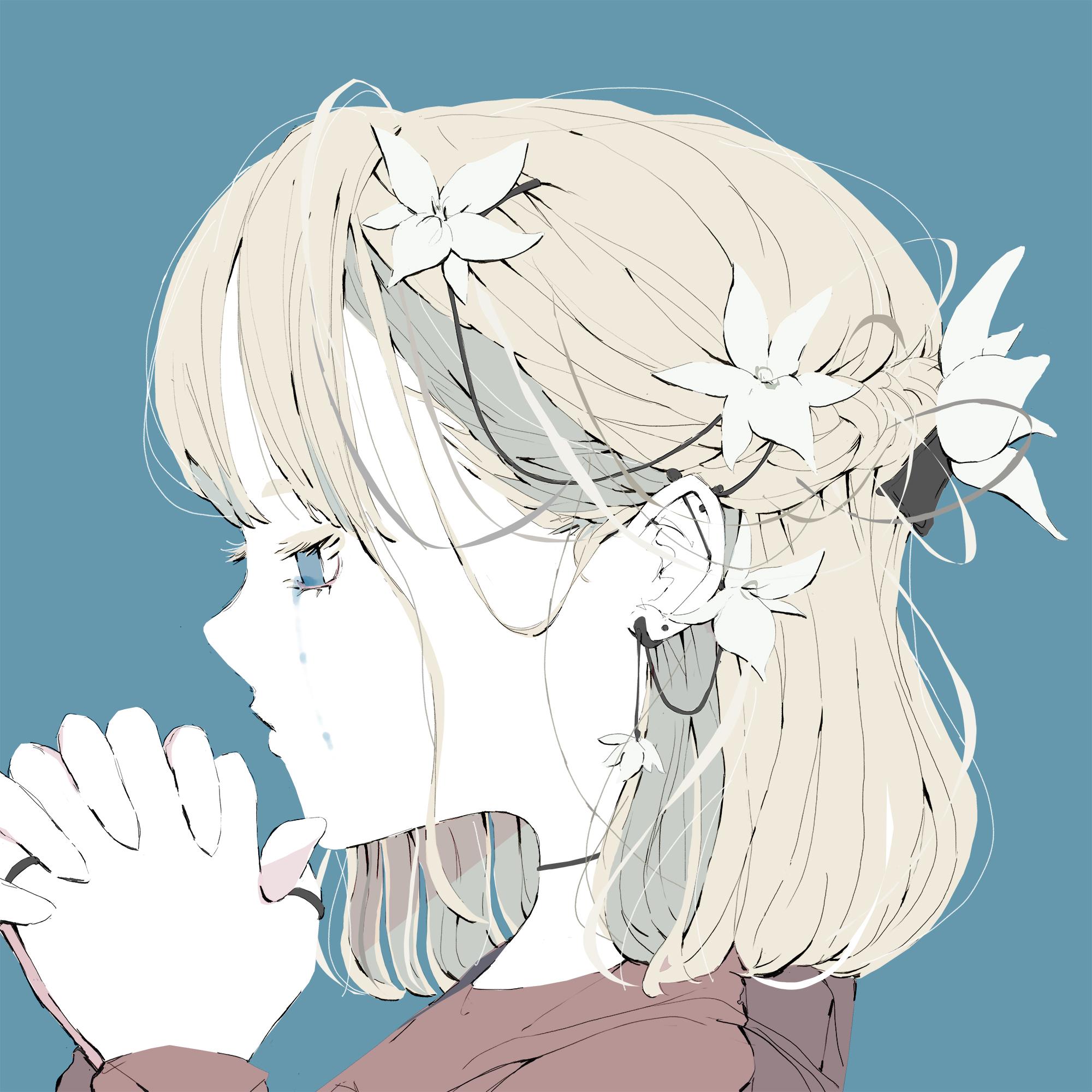 祈る女の子の横顔は【イラスト】