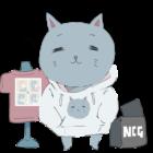 パーカー猫のイラスト
