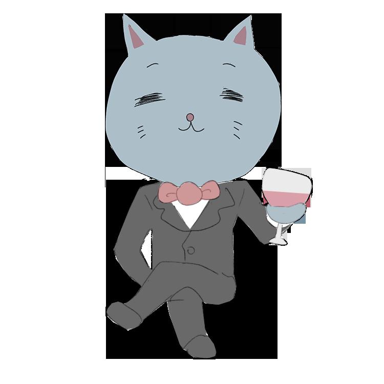菩薩顔の猫ブルジョア