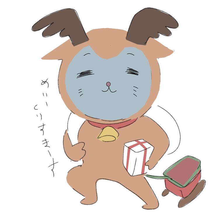 トナカイのコスプレ猫